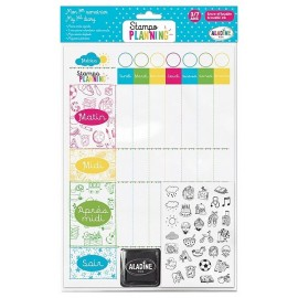 STAMPO PLANNING MON 1ER SEMAINIER TAMPONS ENCRE EFFACABLE