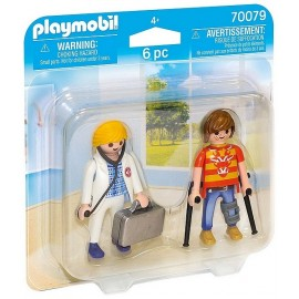 70079 PACK DUO MEDECIN ET PATIENT PLAYMOBIL