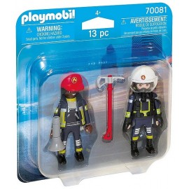 70081 PACK DUO POMPIERS SECOURISTES PLAYMOBIL
