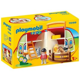 70180 CENTRE EQUESTRE TRANSPORTABLE PLAYMOBIL 1.2.3