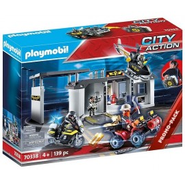 70338 QUARTIER GENERAL POLICE TRANSPORTABLE PLAYMOBIL