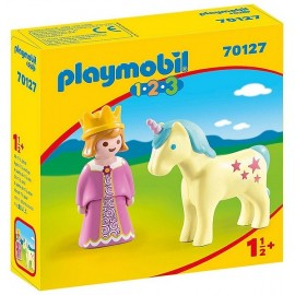 70127 PRINCESSE ET LICORNE PLAYMOBIL 1.2.3
