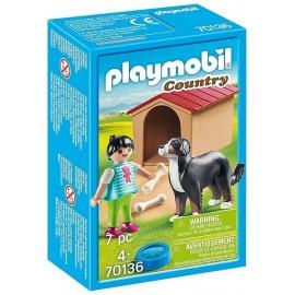 70136 ENFANT AVEC CHIEN PLAYMOBIL COUNTRY - Jouets56.fr - LiloJouets - Magasins jeux et jouets dans Morbihan en Bretagne