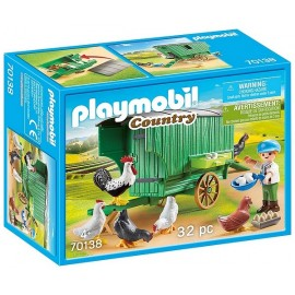 70138 ENFANT ET POULAILLER PLAYMOBIL COUNTRY