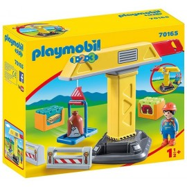70165 GRUE DE CHANTIER PLAYMOBIL 1.2.3