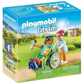 70193 PATIENT EN FAUTEUIL ROULANT PLAYMOBIL CITY LIFE