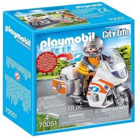 70051 URGENTISTE ET MOTO PLAYMOBIL CITY LIFE