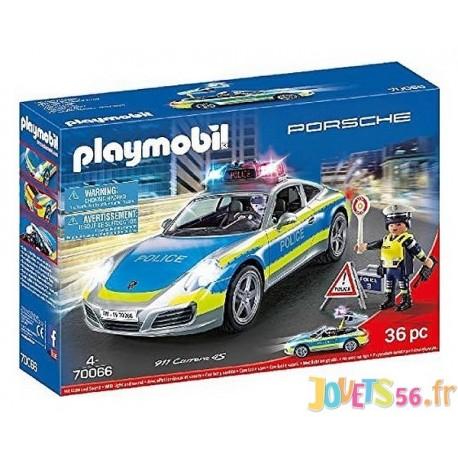 70066 PORSCHE 911 CARRERA 4S POLICE PLAYMOBIL - Jouets56.fr - LiloJouets - Magasins jeux et jouets dans Morbihan en Bretagne