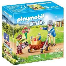 70194 PETITE FILLE ET GRAND MERE PLAYMOBIL CITY LIFE