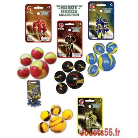 20 BILLES ET 1 BOULET ROBOT-jouets-sajou-56