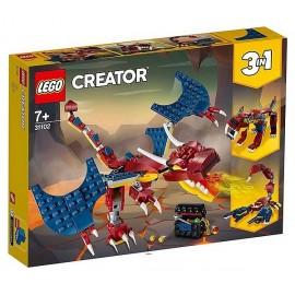 31102 LE DRAGON DE FEU LEGO CREATOR 3EN1