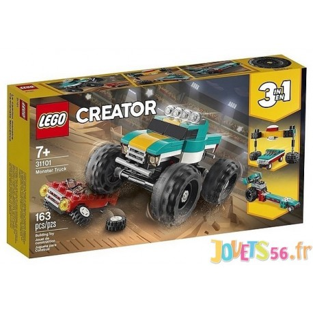 31101 LE MONSTER TRUCK LEGO CREATOR 3EN1-LiloJouets-Magasins jeux et jouets dans Morbihan en Bretagne