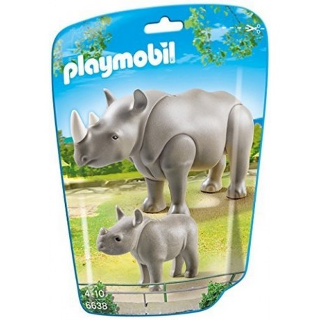 6638 RHINOCEROS ET SON PETIT-jouets-sajou-56