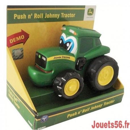 POUSSE ROULE JOHNNY TRACTEUR-jouets-sajou-56