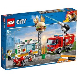 60214 INTERVENTION DES POMPIERS AU RESTAURANT DE BURGERS LEGO CITY