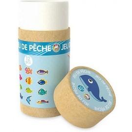 TUBE JEU DE PECHE 12 PIECES BOIS