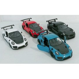PORSCHE 911 GT2 VEHICULE METAL 12CM COULEURS ASSORTIES