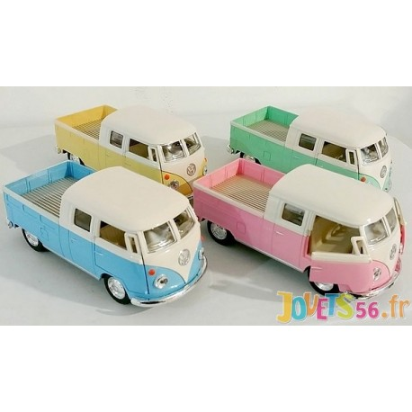 PICKUP VW 1963 VEHICULE METAL 13CM COULEURS ASSORTIES-LiloJouets-Magasins jeux et jouets dans Morbihan en Bretagne