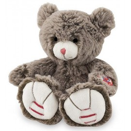 PELUCHE OURS BRUN CACAO PETIT MODELE KALOO ROUGE