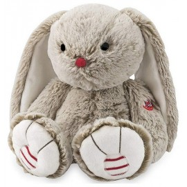 PELUCHE LAPIN SABLE 31CM MEDIUM GAMME ROUGE KALOO