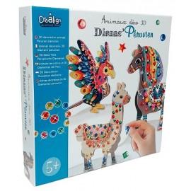 DIAMS PERUVIEN ANIMAUX DECO 3D-LiloJouets-Magasins jeux et jouets dans Morbihan en Bretagne