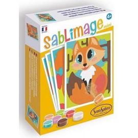 SABLIMAGE MINI ANIMAUX DES BOIS 4 TABLEAUX 16X12CM