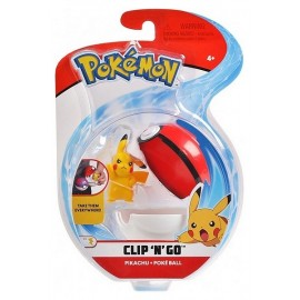 POKEBALL ET FIGURINE 5CM POKEMON CLIP N GO ASST