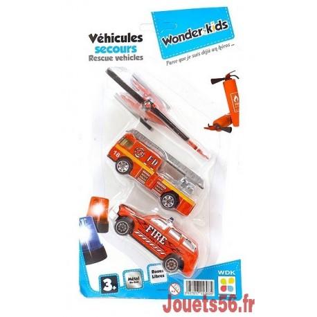 LOT 3 VEHICULES DE SECOURS METAL-jouets-sajou-56