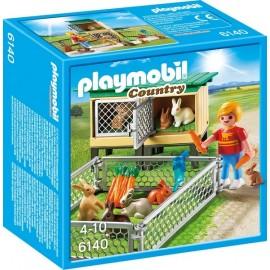 6140 ENFANT AVEC ENCLOS A LAPIN ET CLAPIER-jouets-sajou-56