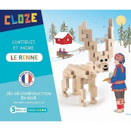 LE RENNE KIT CREATIF CONSTRUCTION BOIS 35 PIECES