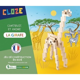LA GIRAFE KIT CREATIF CONSTRUCTION BOIS 44 PIECES