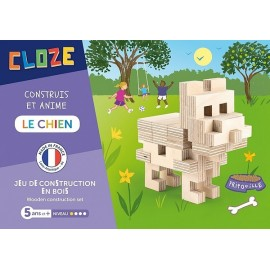 LE CHIEN KIT CREATIF CONSTRUCTION BOIS 23 PIECES