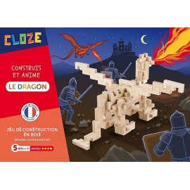 LE DRAGON KIT CREATIF CONSTRUCTION BOIS 81 PIECES