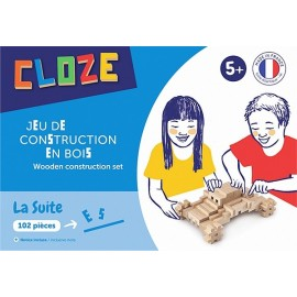 COFFRET SUITE KIT CREATIF CONSTRUCTION BOIS 102 PIECES