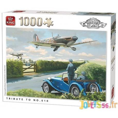 PUZZLE HISTORY 2EME GUERRE TRIBUTE TO 610 AVION 1000 PIECES-LiloJouets-Magasins jeux et jouets dans Morbihan en Bretagne