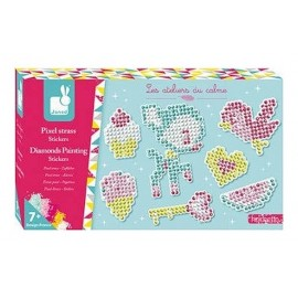 COFFRET PIXEL STRASS STICKERS 7 AUTOCOLLANTS ATELIERS DU CALME