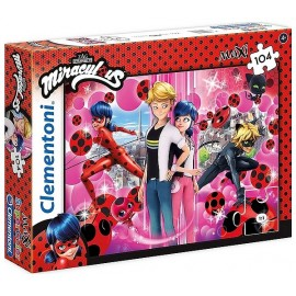 PUZZLE MIRACULOUS 104 PIECES TAILLE MAXI SUPERCOLOR
