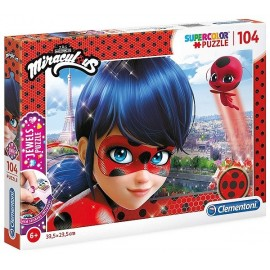 PUZZLE MIRACULOUS 104 PIECES JEWELS DIAMANT