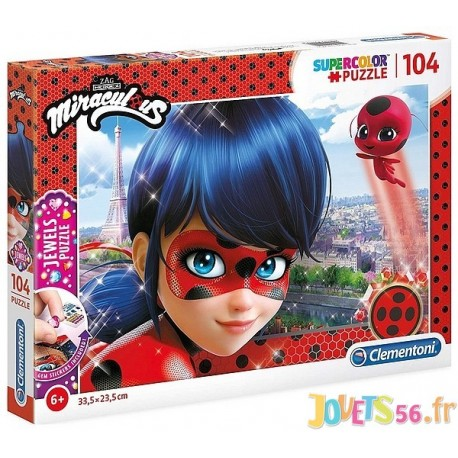 PUZZLE MIRACULOUS 104 PIECES JEWELS DIAMANT-LiloJouets-Magasins jeux et jouets dans Morbihan en Bretagne