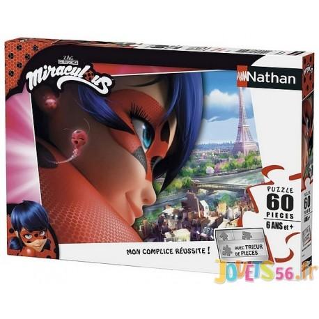 PUZZLE MIRACULOUS LADY BUG 60 PIECES-LiloJouets-Magasins jeux et jouets dans Morbihan en Bretagne