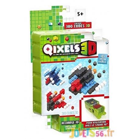 QIXELS RECHARGE 3D VAISSEAUX SPATIAUX 300 PCES-LiloJouets-Magasins jeux et jouets dans Morbihan en Bretagne