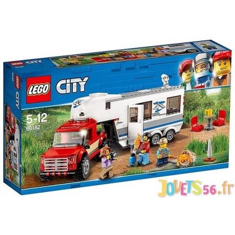 60182 LE PICK-UP ET SA CARAVANE LEGO CITY-LiloJouets-Magasins jeux et jouets dans Morbihan en Bretagne