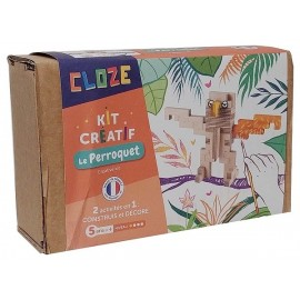 LE PERROQUET KIT CREATIF CONSTRUCTION BOIS 21 PIECES