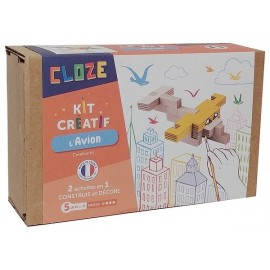 L'AVION KIT CREATIF CONSTRUCTION BOIS 11 PIECES