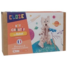 LE ROBOT KIT CREATIF CONSTRUCTION BOIS 20 PIECES