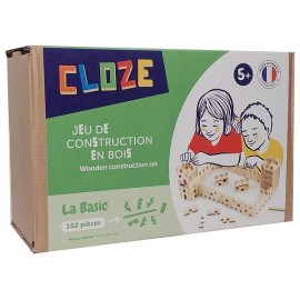 COFFRET BASIC KIT CREATIF CONSTRUCTION BOIS 102 PIECES
