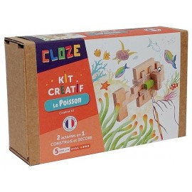 LE POISSON KIT CREATIF CONSTRUCTION BOIS 14 PIECES