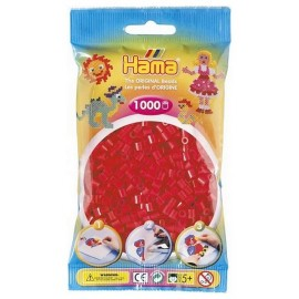 SACHET 1000 PERLES HAMA ROUGES