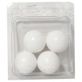 4 BALLES PLASTIQUE POUR BABYFOOT 34MM-15GR