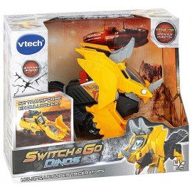 SWITCH AND GO DINOS MOLOPS SUPER TRICERATOPS